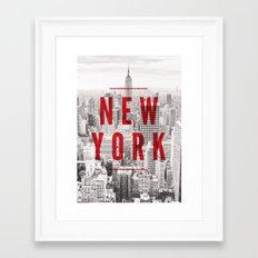 New York Cityscape Framed Art Print
