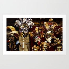 Venice Carnival Masks -Venice Italy Art Print