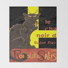 Le Chat Noir De Saint David De Rodolphe Salis Throw Blanket