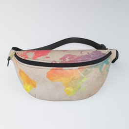 World Map Maps #map #maps #world Fanny Pack
