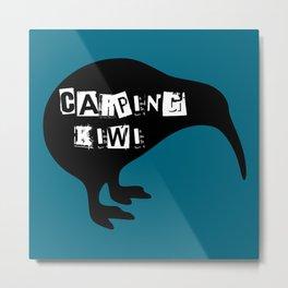 KIWI Carping Kiwi Metal Print