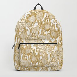 just chickens gold white Backpack