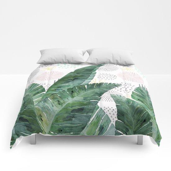 Banana Leaves Society6 Decor Buyart Comforters By