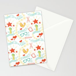 Feminist Pattern 2 Stationery Cards