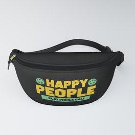 Pickleball Design: Happy People Play Pickleball Fanny Pack