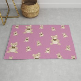 Teddy Bears - Pink Rug