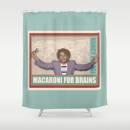 Macaroni For Brains Shower Curtain