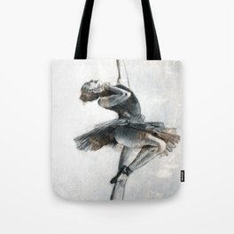 Ballet dancer out in the big city Tote Bag