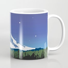 Mt Adams and Stars and Tree Coffee Mug
