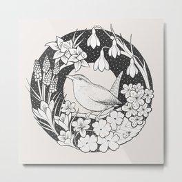 Spring Wren Metal Print