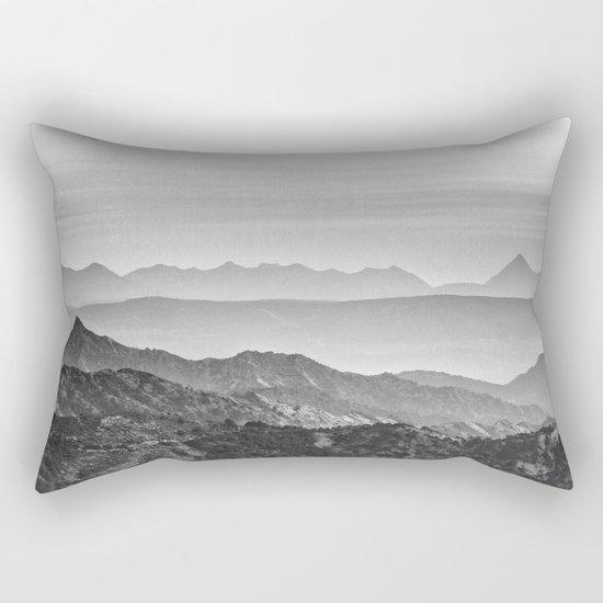 """""""Mountain dreams"""". At sunset. BW Rectangular Pillow"""