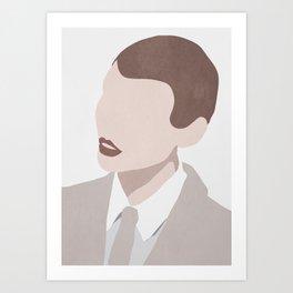 Minimal Art Woman Portrait Art Print