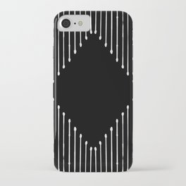 Geo / Black iPhone Case