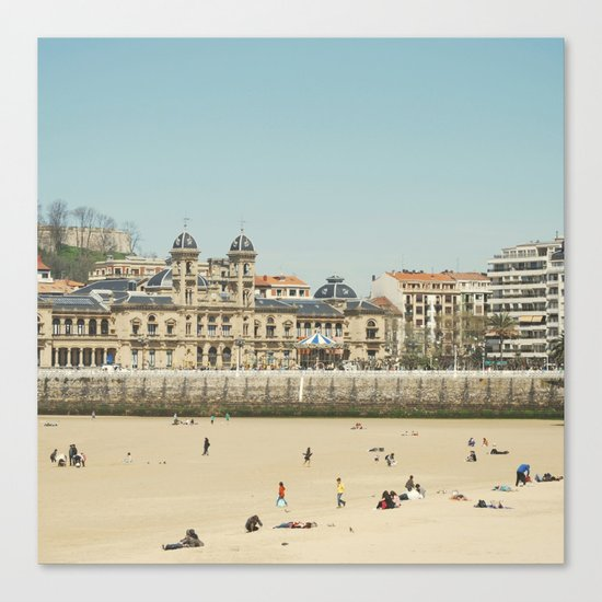 The City Hall and The Beach Canvas Print