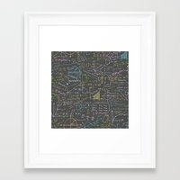 math Framed Art Prints featuring Math Lessons by robyriker
