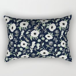 Moody Anemones Rectangular Pillow
