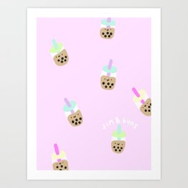 Boba Milk Tea Art Print