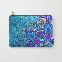 V13 Colored Floral Abstract ART Painting Carry-All Pouch