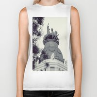 madrid Biker Tanks featuring Madrid by Valkyries