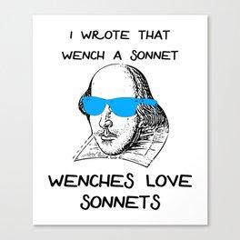 Shakespeare Sonnet Meme Canvas Print