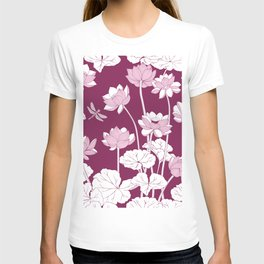 Lotuses and dragonflies. T-shirt