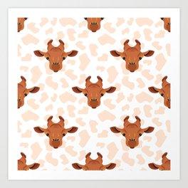 Funny giraffe Art Print