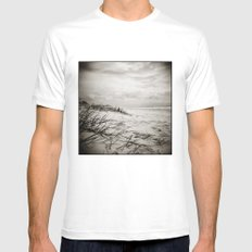 { sand, surf, sun } Mens Fitted Tee White MEDIUM