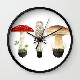 Three Mushrooms Wall Clock