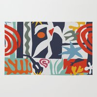 matisse Area & Throw Rugs featuring Inspired to Matisse by Chicca Besso