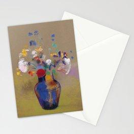 "Odilon Redon ""Flowers on a grey background (Fleurs sur fond gris)"" Stationery Cards"