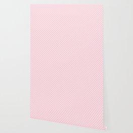 Large Soft Pastel Pink Spots Wallpaper