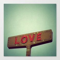 Love Signs Canvas Print