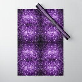 Beautiful Dark Purple glitter sparkles Wrapping Paper