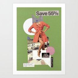 save 55 Art Print