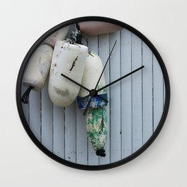 Amagansett Buoys Wall Clock
