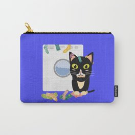 Cat with washing machine   Carry-All Pouch