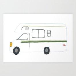 Retro RV Camper Motorhome Art Print
