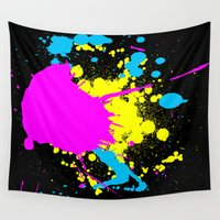 splatter Wall Tapestries featuring Splatter by Spooky Dooky