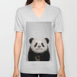 Panda Bear - Colorful Unisex V-Neck