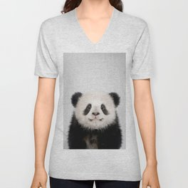 Panda Bear - Colorful Unisex V-Neck
