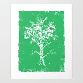 Green Tree Art Print