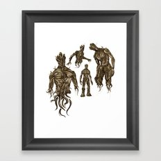 I AM [badass] GROOT Framed Art Print