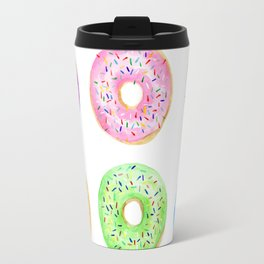Watercolor Donut Pattern Travel Mug