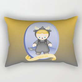 Taurus Child Zodiac Sign Illustration Rectangular Pillow