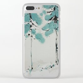 Nordic Trees 3 Clear iPhone Case