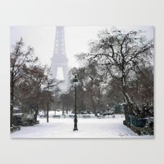 A walk in the snow Canvas Print
