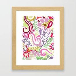 Spring Floral Paisley Framed Art Print