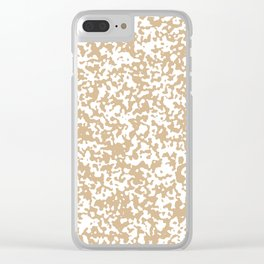 Small Spots - White and Tan Brown Clear iPhone Case