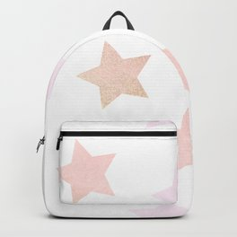 sweet pastel pink gold colors stars pattern 1 Backpack