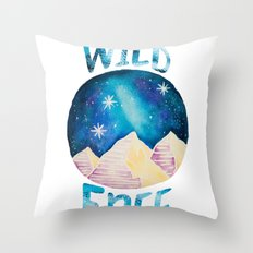 Wild & Free - Gypsy Galaxy Starscape Mountains Throw Pillow